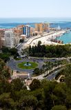 View To Malaga. Andalusia, Spain Royalty Free Stock Photo