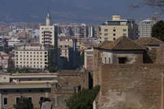 View to Malaga town Stock Images