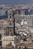 View to Malaga town Stock Photos