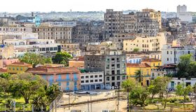 View to Malecon street and old city center, Havana. Cuba Stock Image