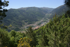 View to Manteigas in Portugal Stock Image