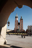 View to Mariacki church, Krakow Royalty Free Stock Image
