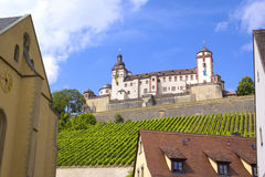 View to the Marienberg Fortress, Wuerzburg Royalty Free Stock Photos