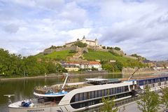 View to the Marienberg Fortress, Wuerzburg Stock Images