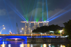 View to Marina Bay Sands and Esplanade Bridge. Stock Image