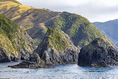 View to the Marlborough Sounds, New Zealand stock photography