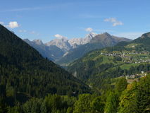 View to Marmolada. Sunny day in Italian Dolomites Royalty Free Stock Image