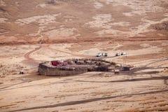 View to Masai village stock photo