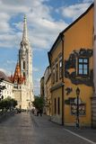 View to Matthias Church in the Castle District. Royalty Free Stock Images