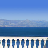 Mediterranean sea. View to Mediterranean sea from a balcony Stock Images