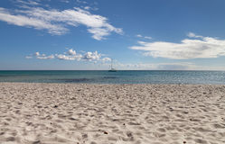 View to the Mediterranean Sea. Stock Images