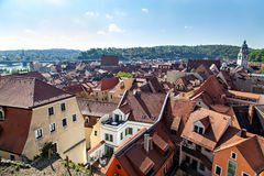 View to Meissen cityscape Royalty Free Stock Photography