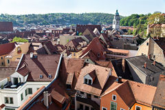 View to Meissen roofs Royalty Free Stock Images