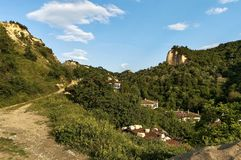 View to Melnik town area Stock Images