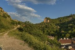 View to Melnik town area Stock Photography