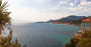 View to Menton on French Riviera, Cote d`Azur, France Royalty Free Stock Images