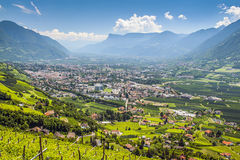 View to Merano South Tirol Royalty Free Stock Images