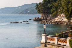 A view to Miramare castle park. Italy Royalty Free Stock Images