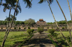 View to the moat and city wall of Hue citadel, Hue Stock Photography