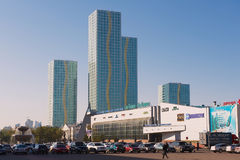 View to the modern buildings of the Grand Alatau residential complex in Astana, Kazakhstan. Royalty Free Stock Photos