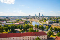 View to modern part of Vilnius, Lithuania Stock Photo