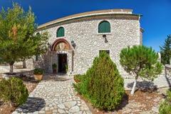 View to monastery of transfiguration of Christ at Pantokrator mo. Untain, Corfu, Greece Royalty Free Stock Image