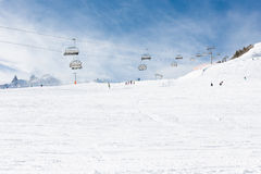 View to Montafon valley from Golm ski resort Stock Images