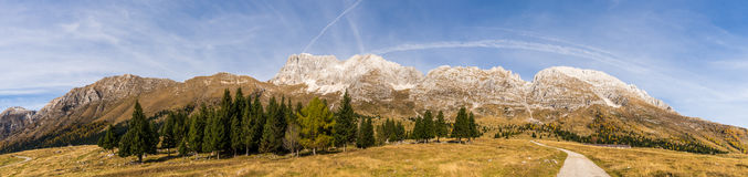 View to the Montasio Massif Stock Photography