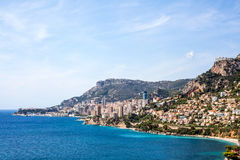 View to Monte Carlo and Larvotto in Monaco, French Riviera, Fran Royalty Free Stock Photo