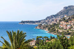 View to Monte Carlo and Larvotto in Monaco, French Riviera, Fran Royalty Free Stock Images
