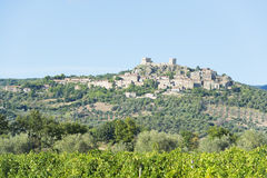 View to Montemassi Tuscany Royalty Free Stock Image