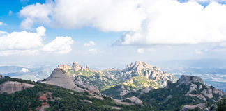The view to Montserrat mountain Royalty Free Stock Photography