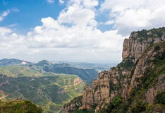 The view to Montserrat mountain Stock Images