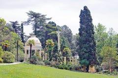 View to Moorish gazebo in the Sochi Arboretum Royalty Free Stock Image