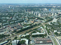 View to Moscow frim Ostankino TV and radio tower Royalty Free Stock Photography