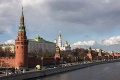 View to Moscow Kremlin in good weather. View to Moscow Kremlin in good spring weather Stock Photography