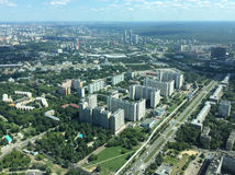 View to Moscow from Ostankino TV and radio tower Stock Images