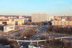 View to Moscow prospect Mira from above Royalty Free Stock Photo