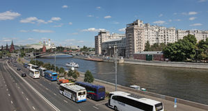 View to Moscow river. Russia Stock Images