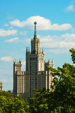 View to Moscow state university Royalty Free Stock Images