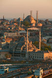 View to the Mosques from Galata Tower royalty free stock image