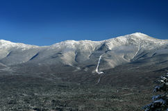 View to Mount Washington in New Hampshire. From summit of Bretton woods ski area at early winter Stock Photography