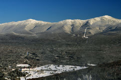 View to Mount Washington in New Hampshire. From summit of Bretton woods ski area at early winter Royalty Free Stock Images