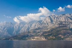 View  to mountain Biokovo. Croatia Royalty Free Stock Photo