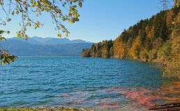 View to mountain lake walchensee, bavaria Stock Photo