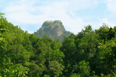 View to mountain popa Royalty Free Stock Images