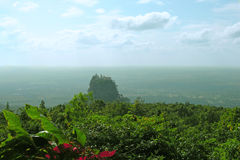 View to mountain popa. Burma Royalty Free Stock Images