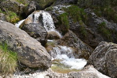 View to mountain pure water stream in a sprin Stock Photography