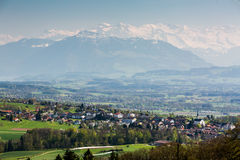 View to the Mountain Rigi Stock Image