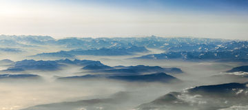 View to mountains of the alps Stock Photo